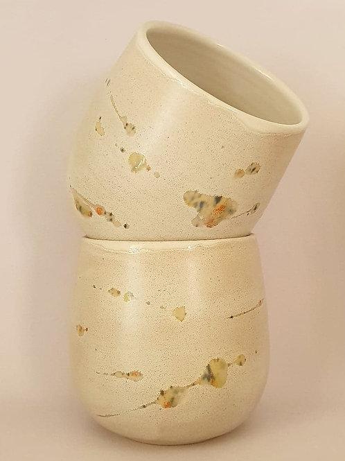 44. set of 2 yunomi cups confetti