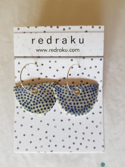 ceramic polka dot dangles