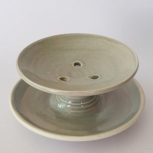 #54 soap dish olive