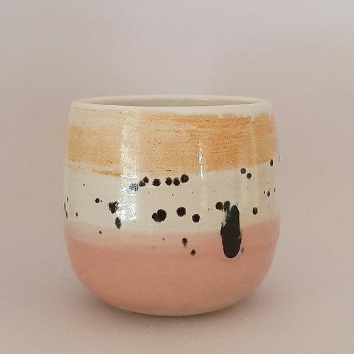 7. yunomi ink spots pink orange