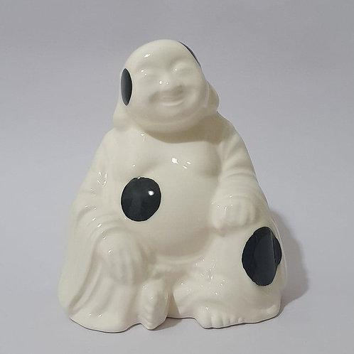 28. Buddha sitting black polka dots