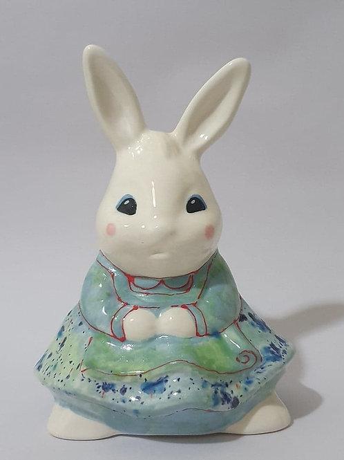 23. Bunny in skirt teal tones