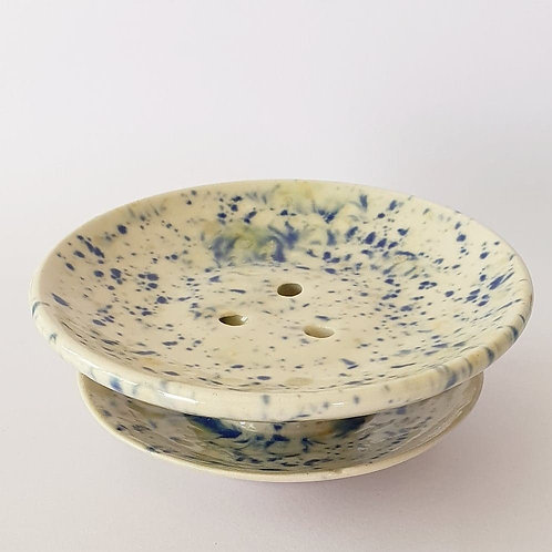#52 soap dish wild flowers