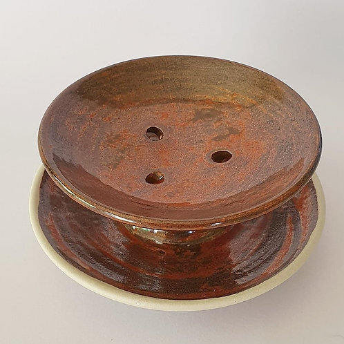 #53 soap dish red earth