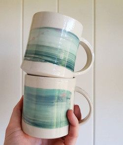 hand painted mugs