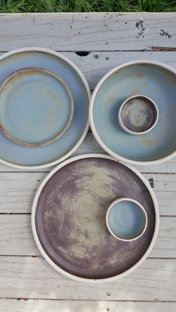 tin blue raw textured glaze
