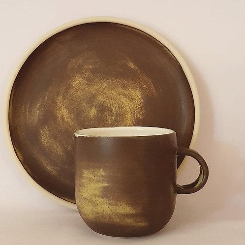 forest toast & tea set