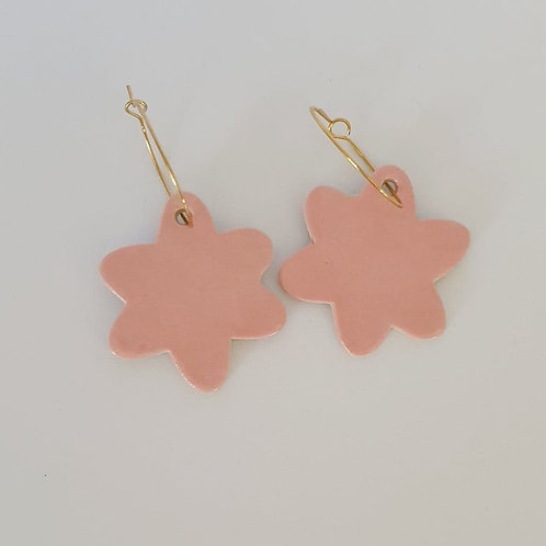 big pink daisy dangles