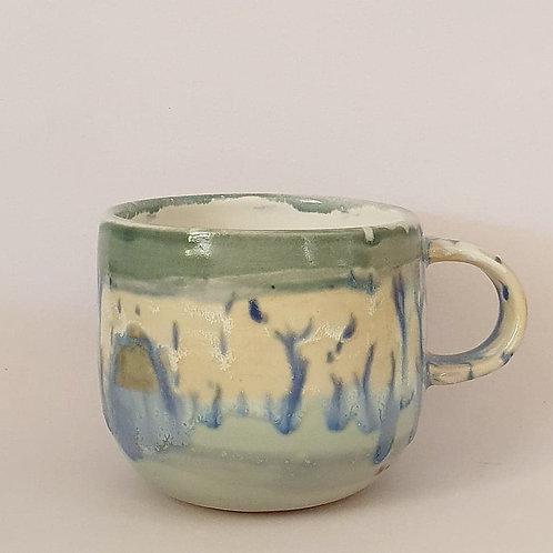 40. barista mug Winter rain
