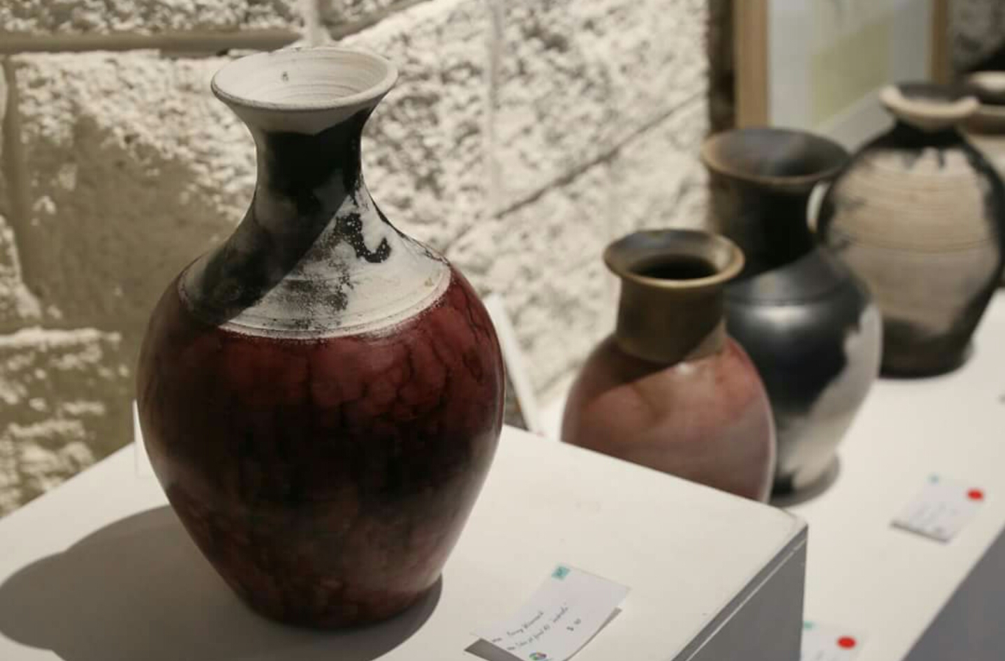 earthy Caboo pit fired vases