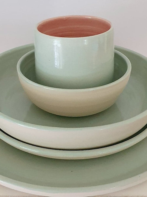 set for one in pastel mint