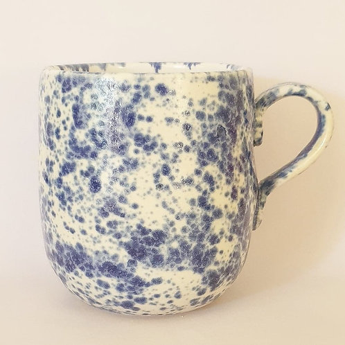 48. handled mug speckled blue