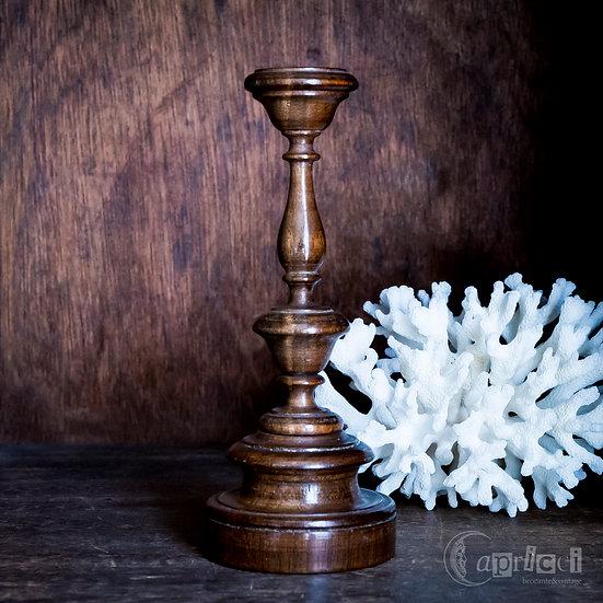 アンティークのキャンドルスタンド 木製