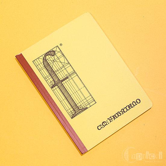 イタリアのビンテージのノート Vintage Notebook FABRIANO F Giallo<方眼>