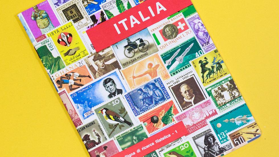 イタリアヴィンテージノート<罫線>切手収集シリーズ