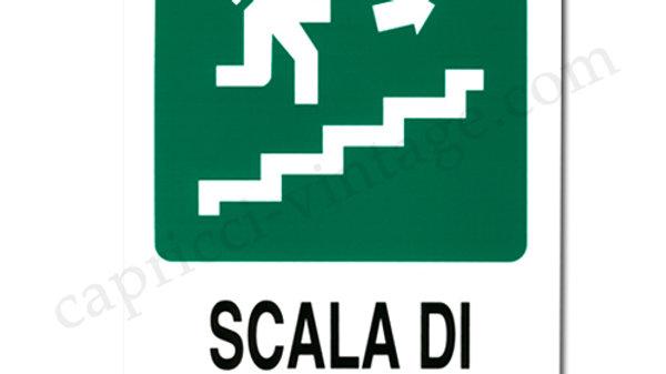 イタリア語看板 SCALA DI EMERGENZA非常階段 右上