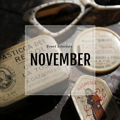 11月の出店のご案内