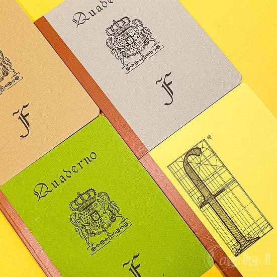 イタリアのビンテージのノート Vintage Notebook FABRIANO Due Lioni Beige<罫線>