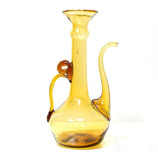 古いヴェネツィアンガラスの水差し 注ぎ口