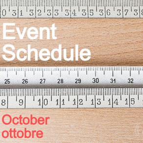 10月のスケジュール   capricci OFFICINA134