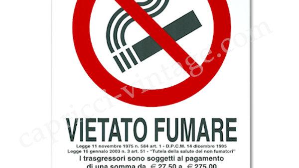 イタリア語看板 VIETATO FUMARE 禁煙