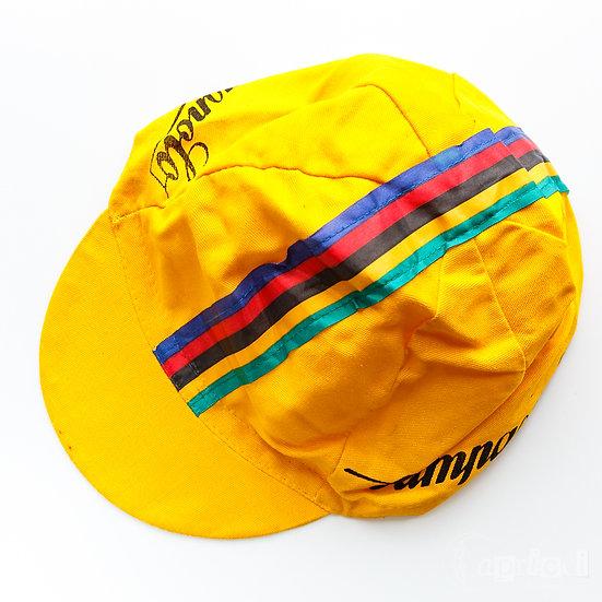 Campagnolo カンパニョーロ ヴィンテージのサイクリングキャップ  ストライプ