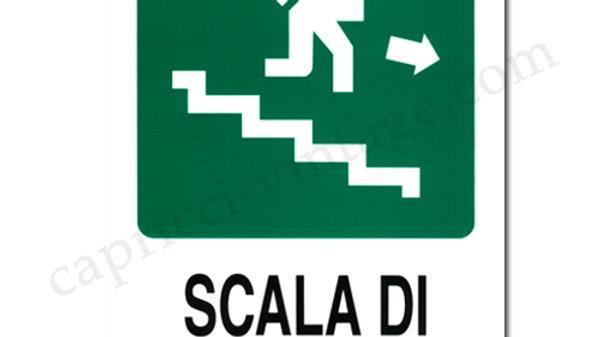 イタリア語看板 SCALA DI EMERGENZA非常階段 右下