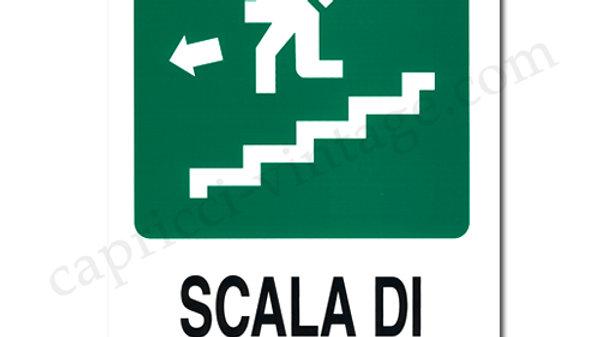 イタリア語看板 SCALA DI EMERGENZA非常階段 左下