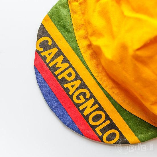 Campagnolo カンパニョーロ ヴィンテージのサイクリングキャップ つばストライプ