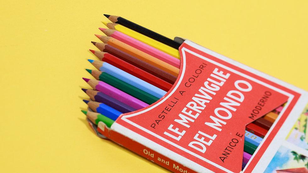 ITALIAN VINTAGE COLOR PENCILS イタリアのヴィンテージの色鉛筆