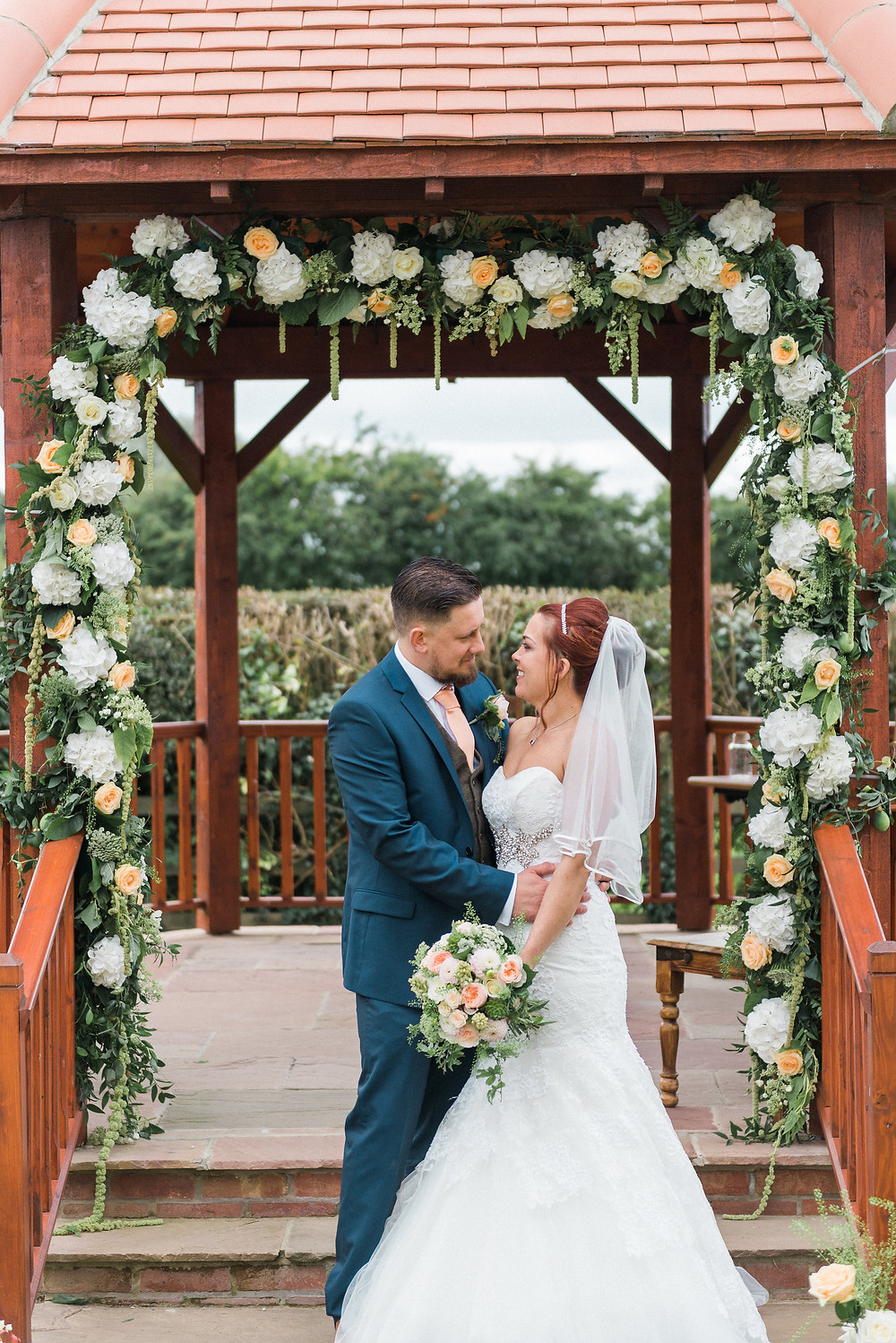 Rachel's Floral arch soon to be featured on Whimsical Wedding blog