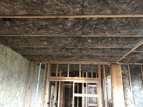 Ceiling batt insulation