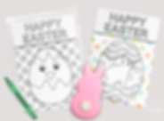 free happy easter coloring book cards free printable spring easter bunny egg color me cookie card freebie
