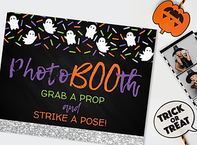 free printable ghost boo photo booth prop sign free party printable download grab a prop strike a pose freebie