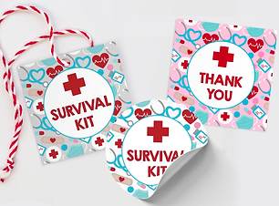free medical thank you tag survival kit red cross nurse week appreciation printable tag free download freebie