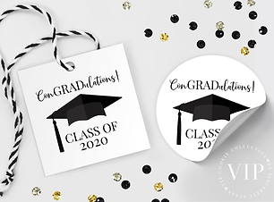 Free Graduation Tag Class of 2020 High School or College Graduation Gift Tag Graduation Cap Gown