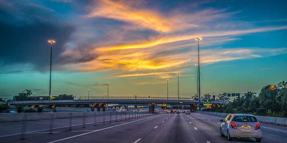 Heading East at Sunrise