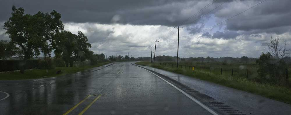 Leaving Brazos Bend in the rain