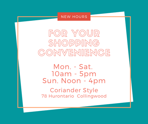New Hours for All Our Stores