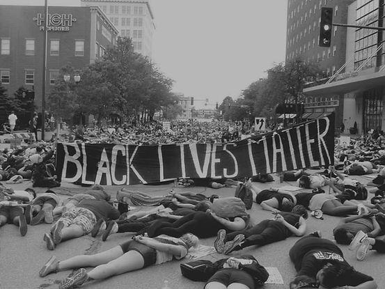 Cedar Rapids Black Lives Matter protest.