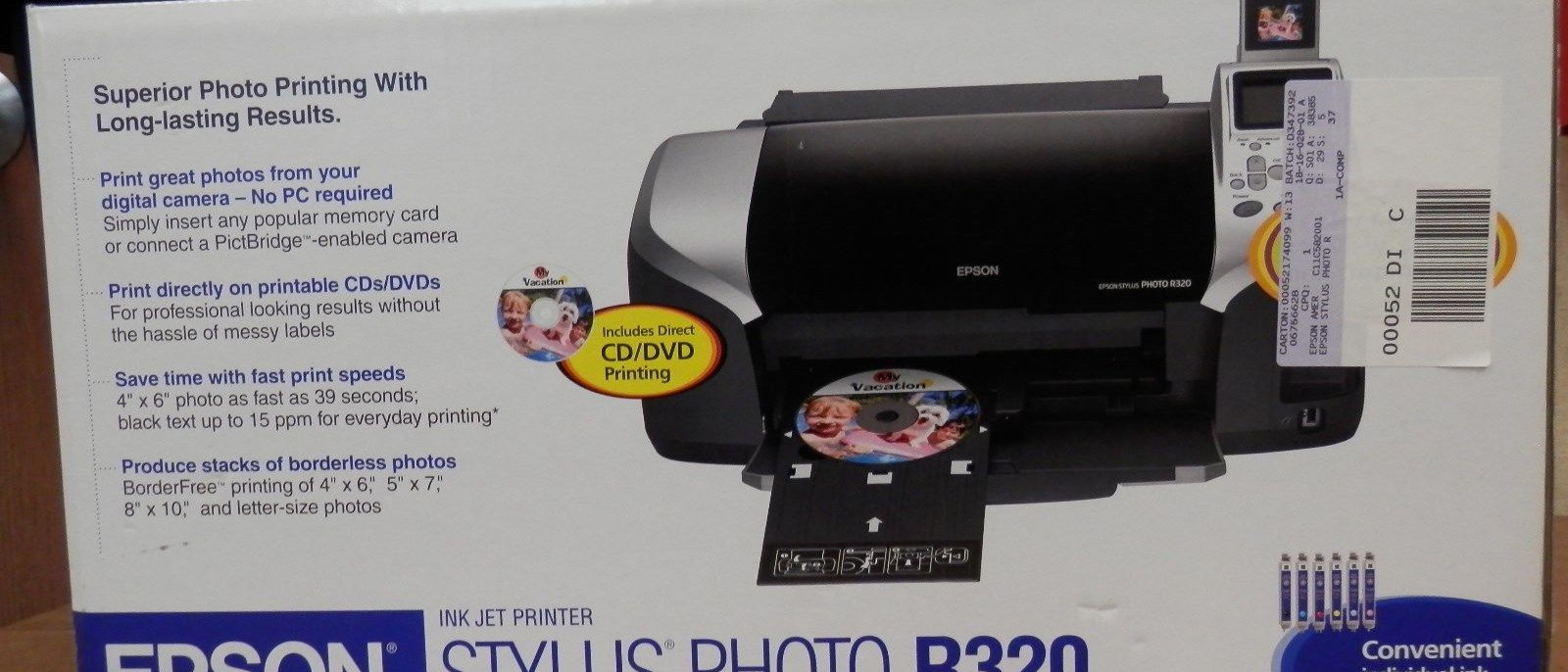 EPSON R320 CD PRINTING WINDOWS 7 64 DRIVER