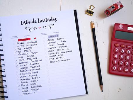 Como preparar la lista de invitados?