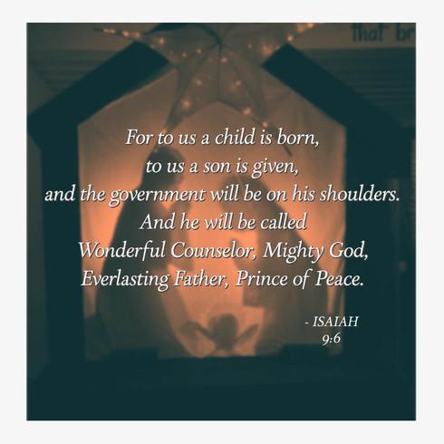 Isaiah 9:6 Asbury St James UMC Charlesto