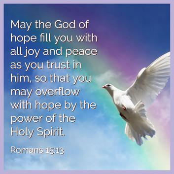 Romans 15:13 Asbury St James UMC Charles