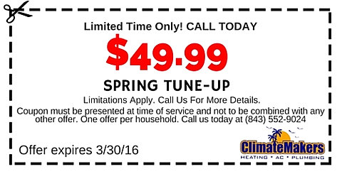 Hvac Amp Plumbing Specials And Coupons Climatemakers