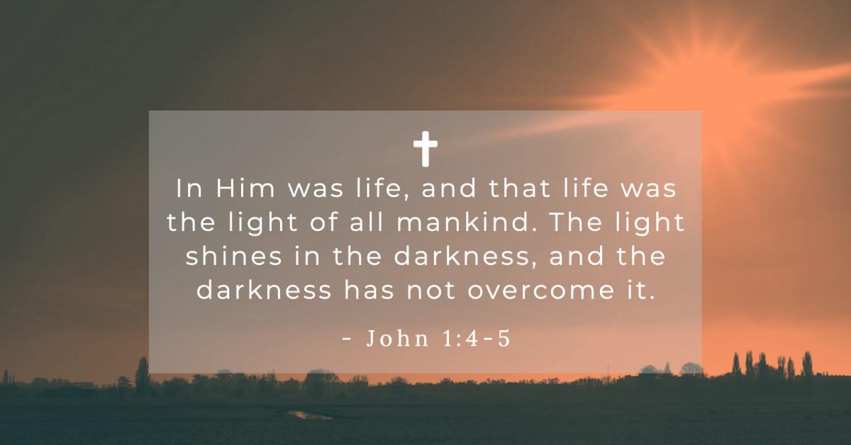 John 1:4-5