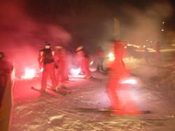 Ski School at night