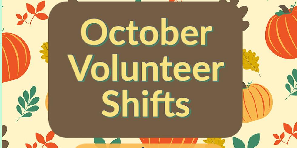 October Volunteer Shift