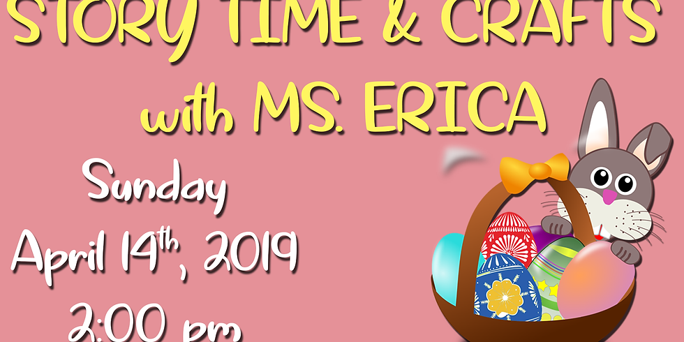 Story Time & Crafts with Ms. Erica