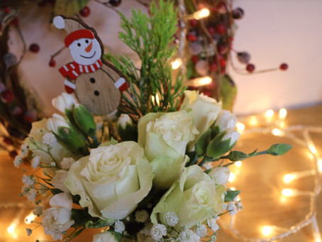 Posy of the Month - Frosty Florals